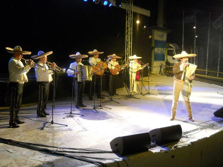 Mariachi Juarez en  plena actuacion.