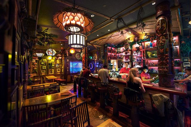 Inside of Trader Sam's Disneyland Hotel