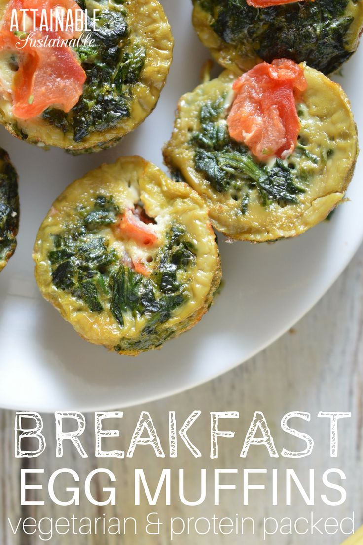Need a quick breakfast or high-protein snack on the run? Make these vegetarian egg muffins for a grab and go solution. Easy, peasy!