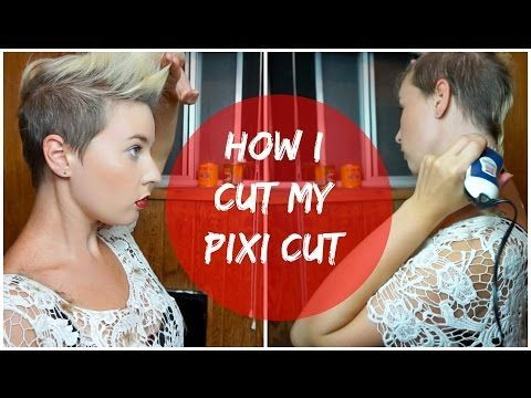 How I Shave and Cut My Pixi Haircut - YouTube