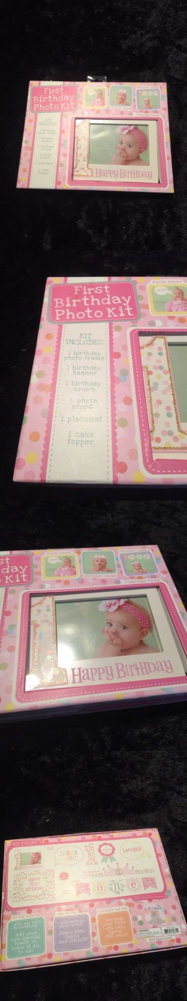 Baby Books and Albums 117389: Cr Gibson Baby Girls Pink First Birthday Photo Kit Crown Props Cake Topper -> BUY IT NOW ONLY: $34.98 on eBay!