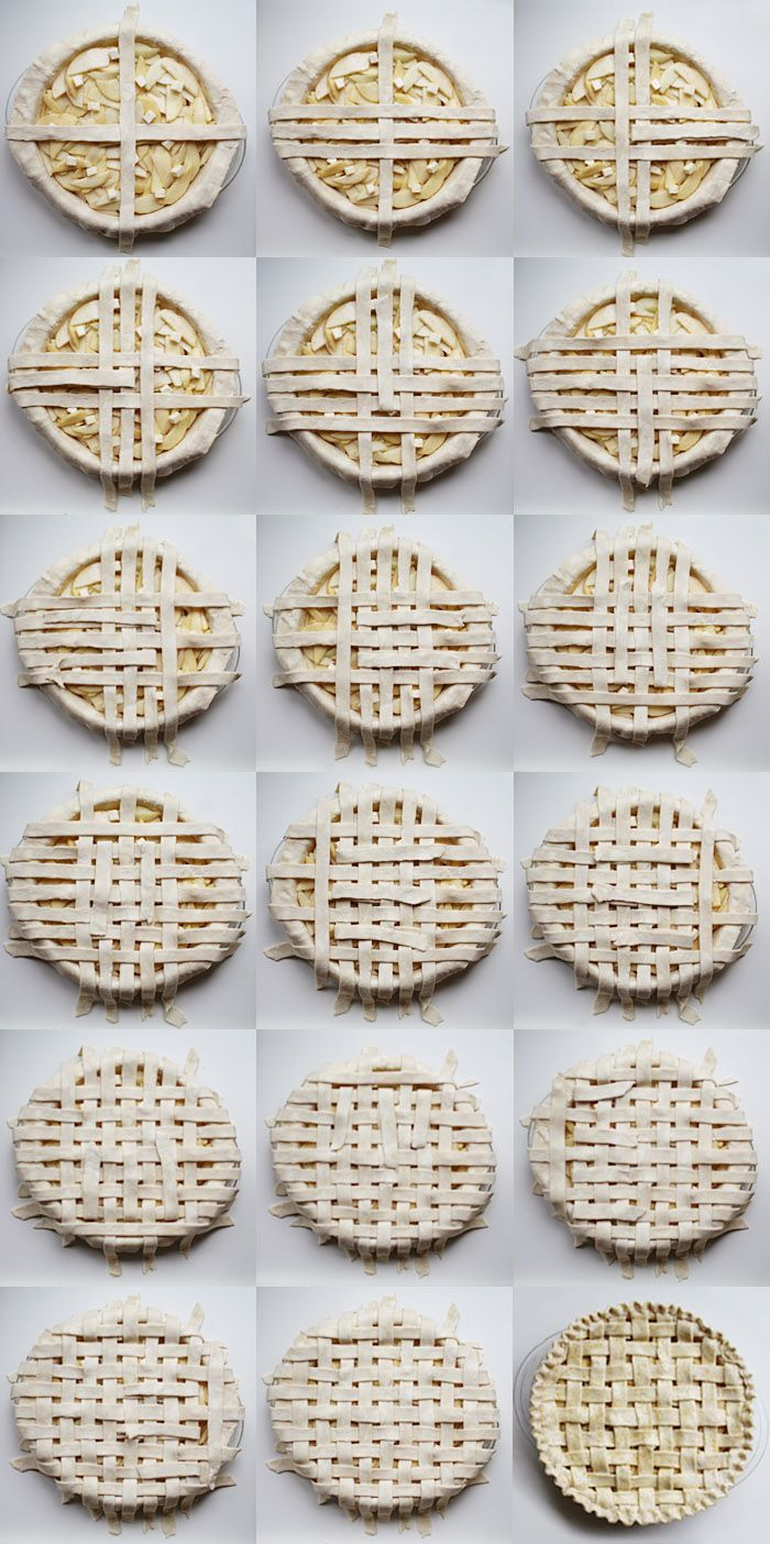 DIY lattice pie crust via elephantine