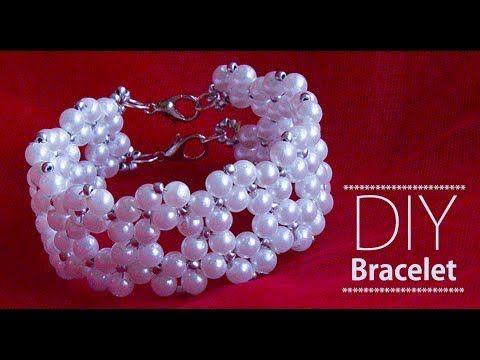 How to make pearl bracelet | DIY Bracelets | pearl bridal jewellery making - YouTube