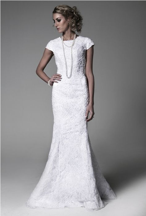 Sheath Wedding Dresses London : London modest wedding dress sheath style lace gown this is
