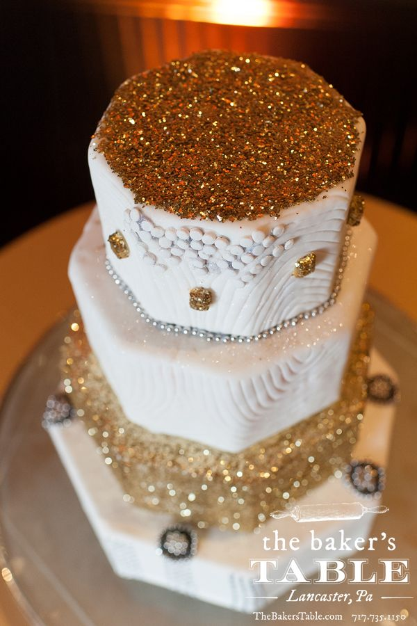 Gold and Silver Art Deco, Great Gatsby Themed Wedding Cake ...