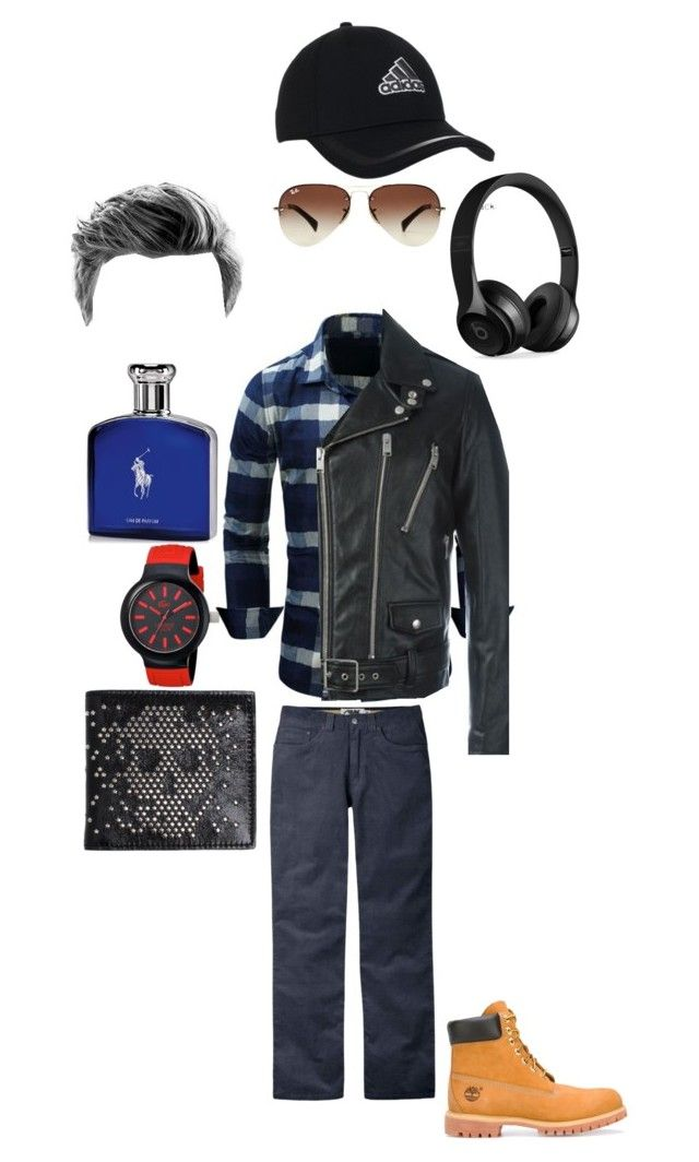 """""""A Day at Work"""" by carmastermind ❤ liked on Polyvore featuring Yves Saint Laurent, Mountain Khakis, Timberland, Lacoste, Alexander McQueen, adidas, Ray-Ban, Beats by Dr. Dre, Ralph Lauren and men's fashion"""