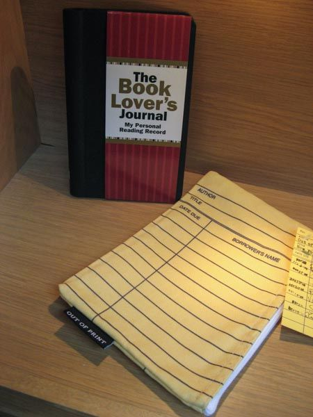 Book Lover's Journal and Library Card pouch. Available at Best of Friends Gift Shop in the lobby of Winnipeg's Millennium Library. 204-947-0110  info@friendswpl.ca