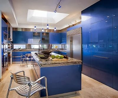 2014 Color trend-dazzling blue kitchen