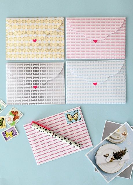 Free patterned papers and envelope template