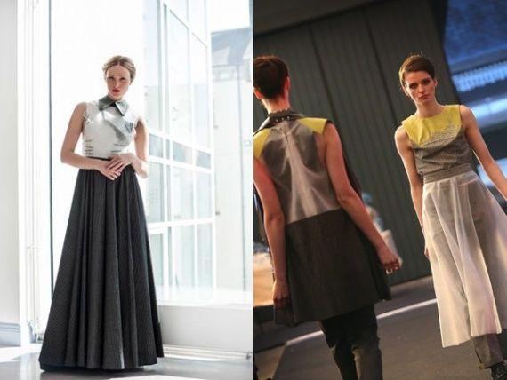 Alison McEvoy's work, read the interview here: http://www.fashion156.com/daily-blog/f156-graduate-showcase-week-alison-mcevoy/  #fashion156 #designer #AlisonMcevoy #skirt #model #pleats #graduateshowcaseweek #LimerickSchoolofArtandDesign #window #skirt #catwalk #collage #womenswear #collar