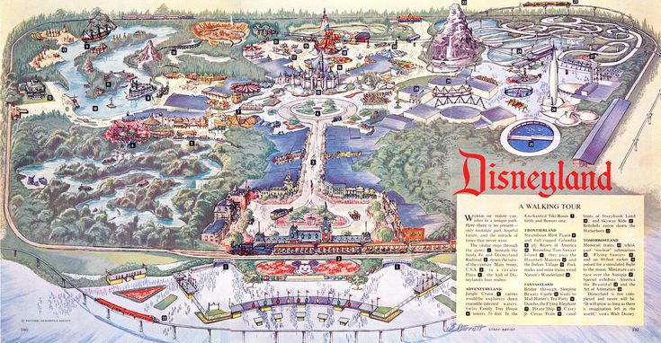 Insanely detailed high-res Disneyland map from the ...