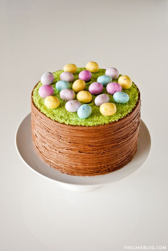 Easter Basket Cake | by Carrie Sellman for TheCakeBlog.com