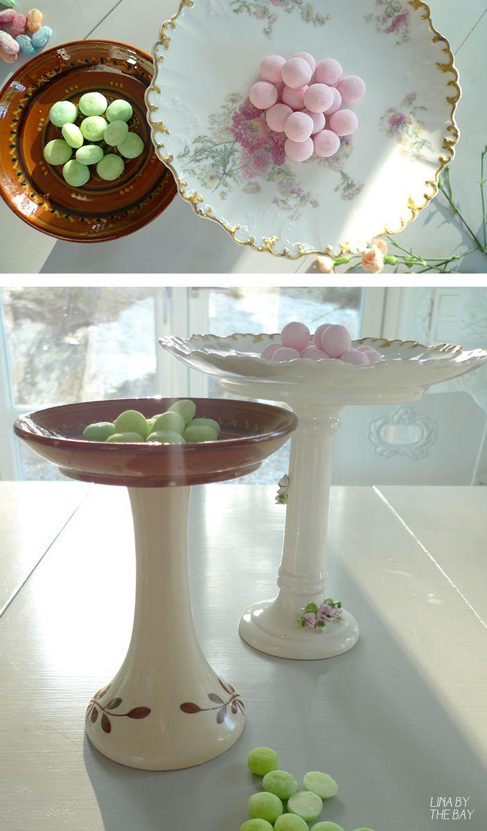 DIY by old porcelaine. Glue, glue, glue