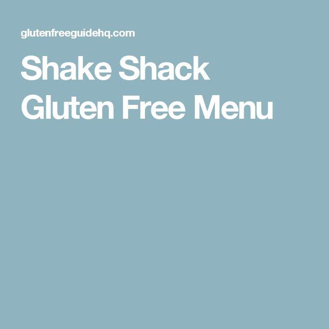 Shake Shack Gluten Free Menu