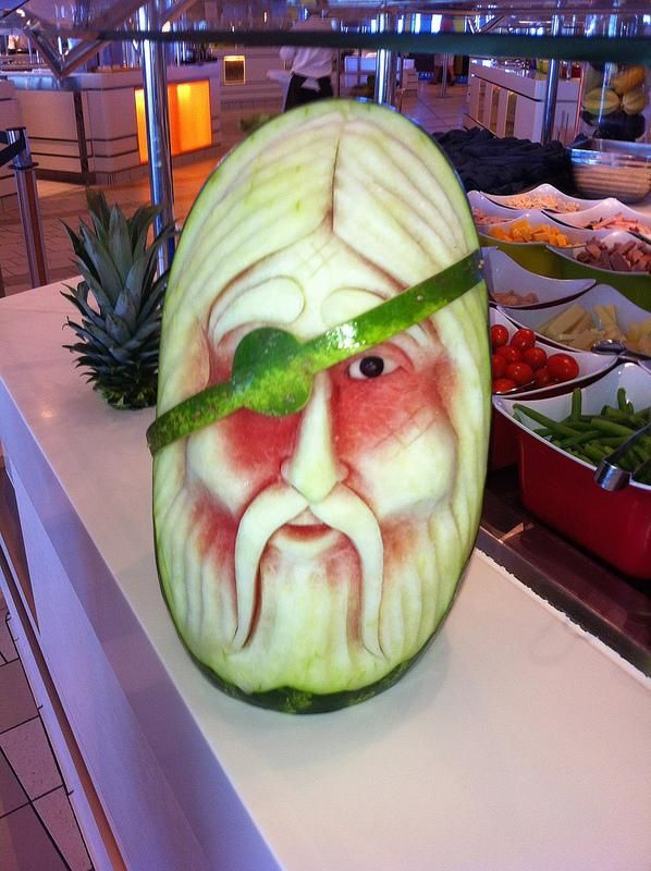 Best Decoração Food Art Images On Pinterest Fruit - Incredible sculptures carved watermelon