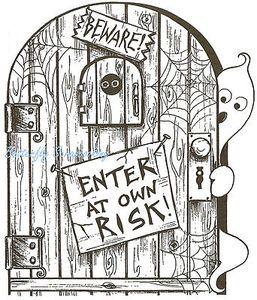 halloween door coloring pages - photo#10
