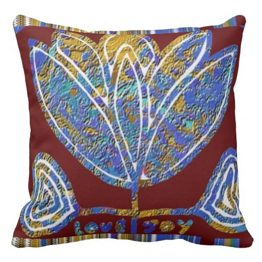 REIKI Karuna Healing Symbols Lotus Golden Chakra Throw Pillow