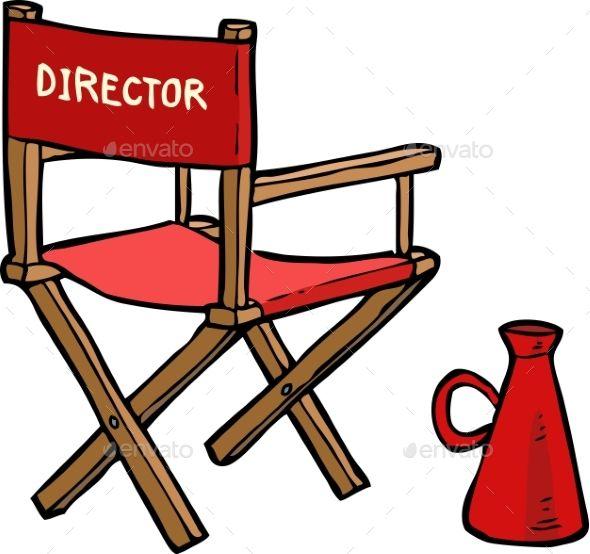 Cartoon Director Chair Directors Chair Chair Chair Drawing