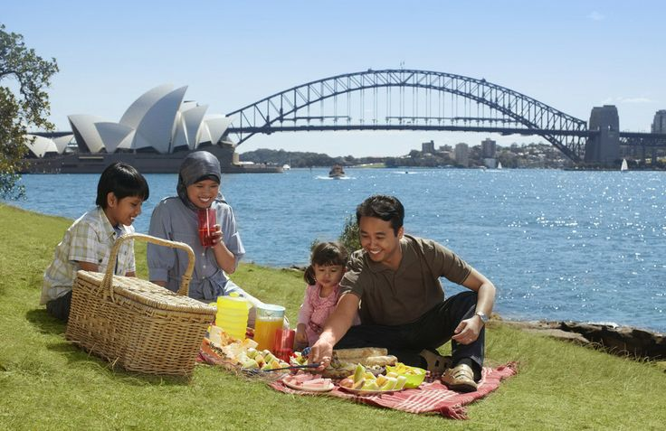 Have a picnic by the picture perfect harbour, go on a cruise and may be climb the harbour bridge. Vacation in Australia is such fun. www.OzeHols.com.au #AustraliaVacation #VacationAustralia