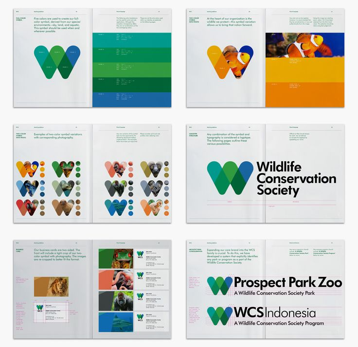 New Logo and Identity for Wildlife Conservation Society by Pentagram