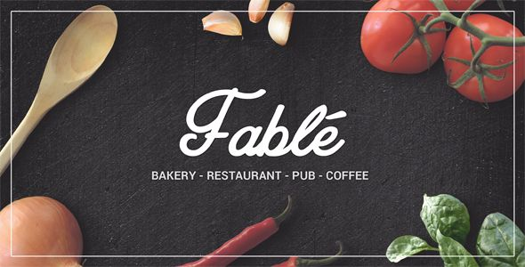 Fable - Restaurant & Bakery WordPress Theme