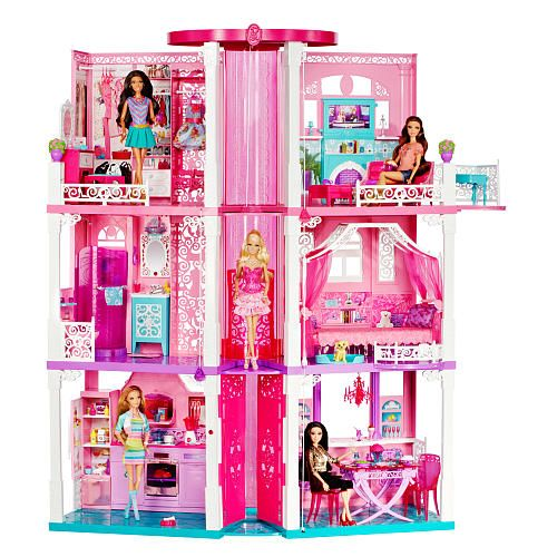 Barbie Dreamhouse Life: Barbie Dream House Life: Doll House Review Part On...