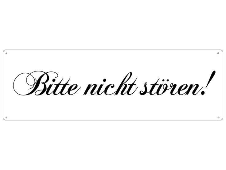 METALLSCHILD Shabby BITTE NICHT STÖREN Schild von Interluxe via dawanda.com