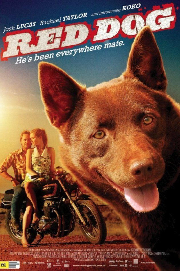 Directed by Kriv Stenders.  With Josh Lucas, Rachael Taylor, Rohan Nichol, Luke Ford. Based on the legendary true story of the Red Dog who united a disparate local community while roaming the Australian outback in search of his long lost master.