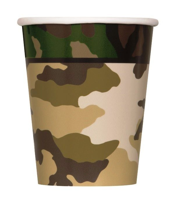 Army Cups | Camouflage Army Birthday Party | Party Cups