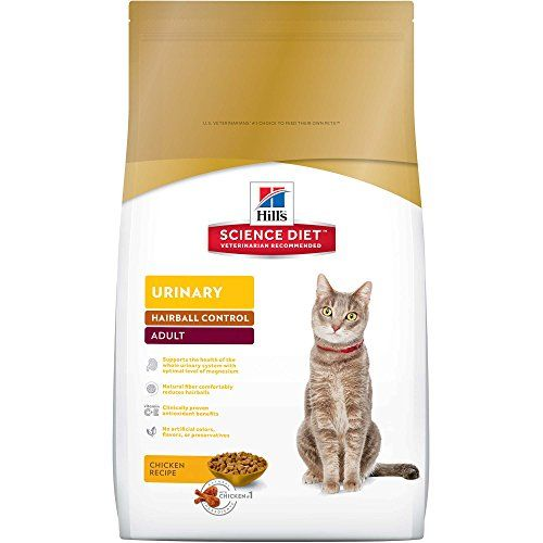 Hill's Science Diet Adult Urinary & Hairball Control Chicken Recipe Dry Cat Food, 15.5 lb bag - Hills Science Diet Adult Urinary Hairball Control cat food provides precisely balanced nutrition to help support the health of the whole urinary system.