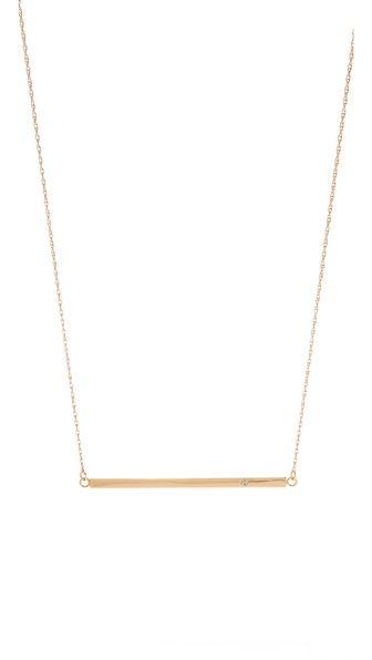 Jennifer Zeuner Jewelry Horizontal Bar Necklace