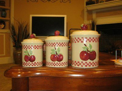 apple canisters for the kitchen best 25 apple kitchen decor ideas on apple 22909