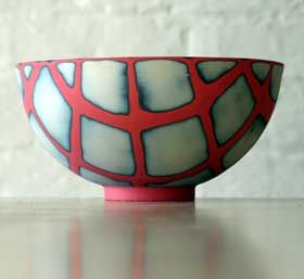 Small ceramic bowl by Susan Nemeth. I have one of these in my ceramics collection.
