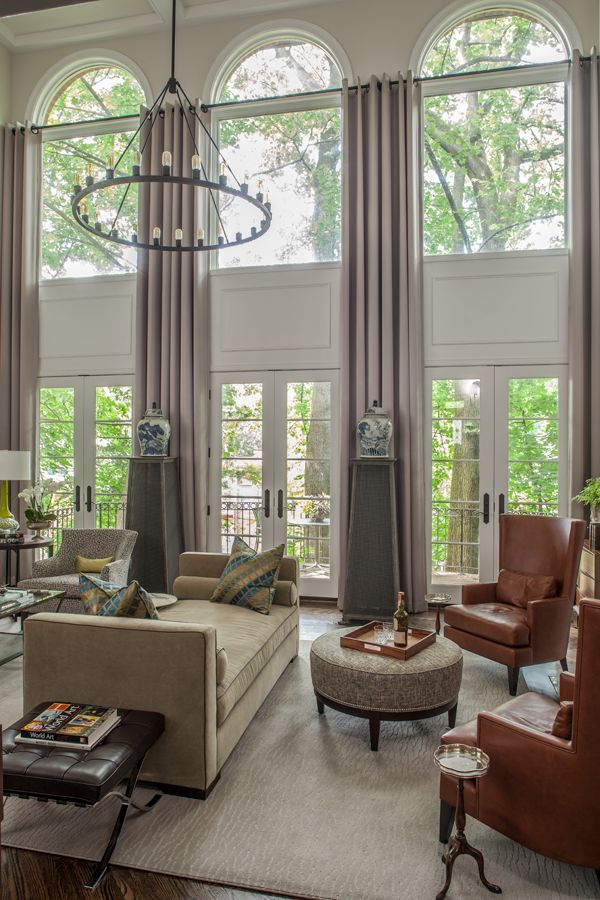 Lovely Contemporary Window Treatments For Large Windows Part - 5: Arched-top Windows. Large Window TreatmentsWindow ...