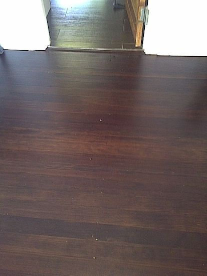 Oregon 84mm Vertical Grain boards with a chocolate brown stain and an extra matt finish.