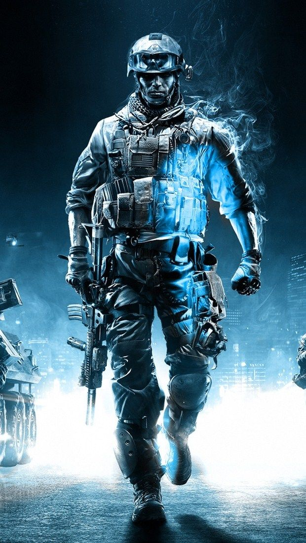 Battlefield 3 Action Game iPhone 5 Wallpaper