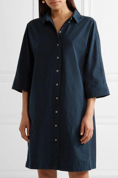 M.i.h Jeans - Roller Cotton Shirt Dress - Navy - x small