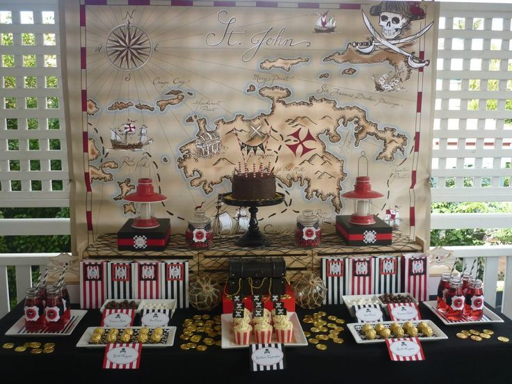pirate birthday party dessert table from Spaceships and Laser Beams