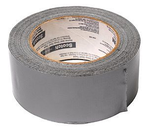 """Duck tape"", colored in army-standard olive drab, was nicknamed by soldiers. Developed in 1943 to seal ammunition cases against moisture, the tape could be quickly ripped by hand, not cut with scissors, an idea developed by a mother of two Navy sailors, Vesta Stoudt. (duct tape)"