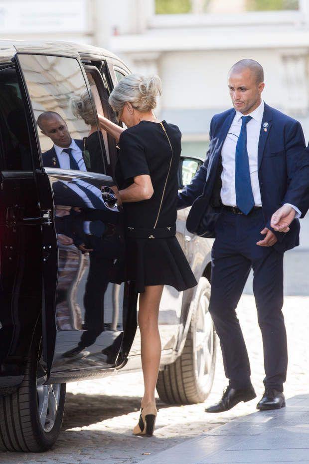Brigitte Macron en Louis Vuitton au sommet de l'OTAN