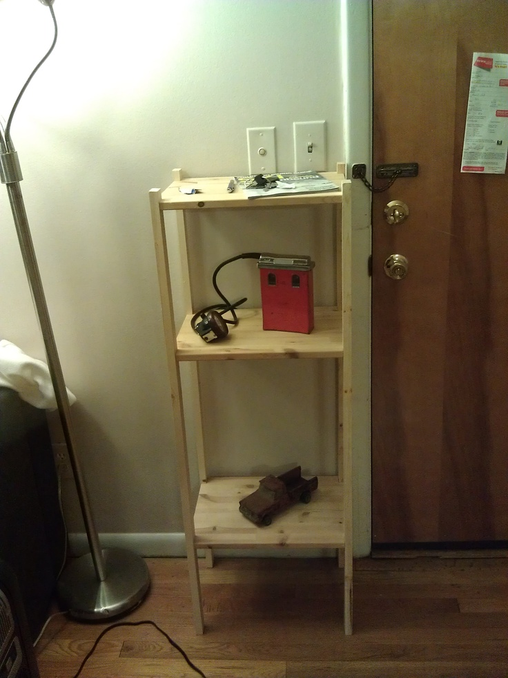 who says you can't build a shelf in 25 minutes Shelves