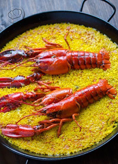 receta de arroz con bogavante. Lobster rice paella