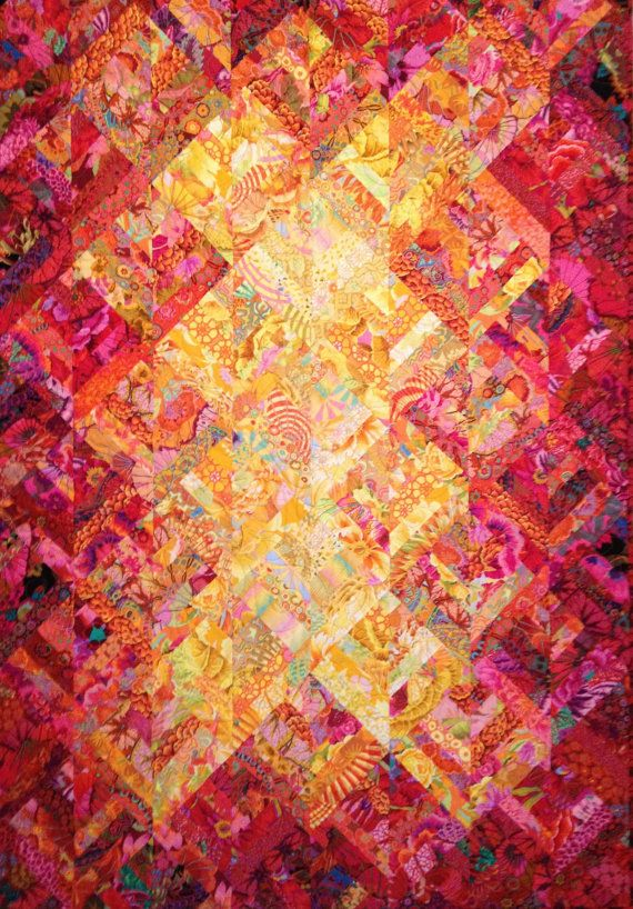 SUNSET QUILT KIT   -  Queen size - Kaffe Fassett  and Philip Jacobs fabrics on Etsy, $180.00