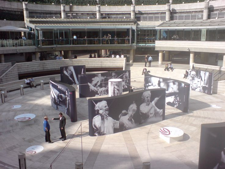 An exhibition in Broadgate Arena, London for UBS and the London Symphony Orchestra called UBS Soundscapes using photos from Alberto Venzago. Exhibition designed and built by 4D Projects.