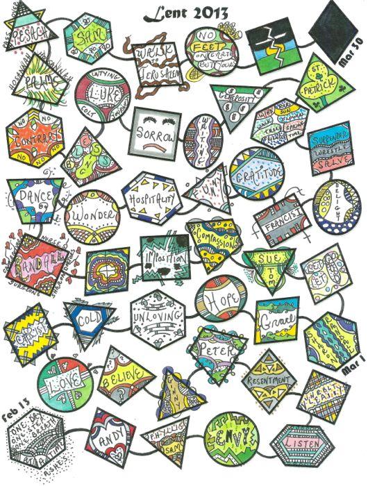 Lenten Calendars for 2013 - from Praying in Color