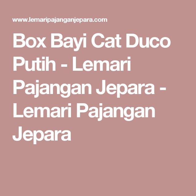 Box Bayi Cat Duco Putih - Lemari Pajangan Jepara - Lemari Pajangan Jepara