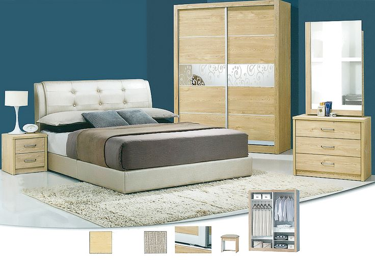 The Atlanta Bedroom Set Description: Specially designed, sleek and classy, the Atlanta bedroom set was design to its finest lines. Keeping it simple and neat with clean lines, it consists of a 3 sliding door wardrobe.