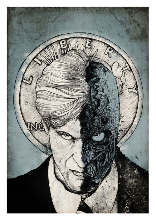 gothamart: Two-Face by Nicolas Côme