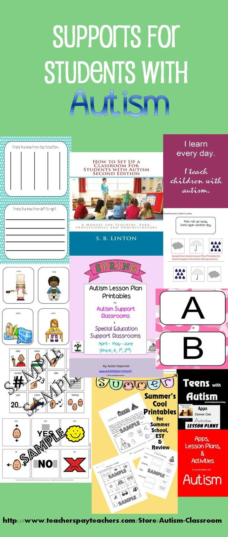 Pre-made lessons and supplies. I like to be productive and I like to save time while doing it. All the items needed to get a self-contained special education classroom up and running or keep it up and running. #autism #lessons #lessonplans