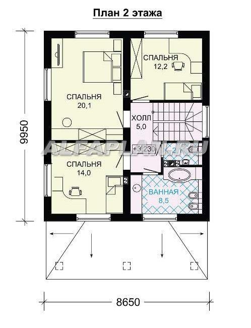 Двухэтажный экономичный и компактный дом.: цены ...